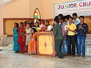 Children taking part in Junior Church 2013